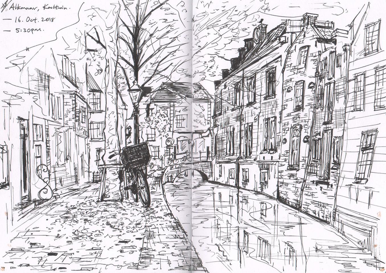 Sketching In Alkmaar